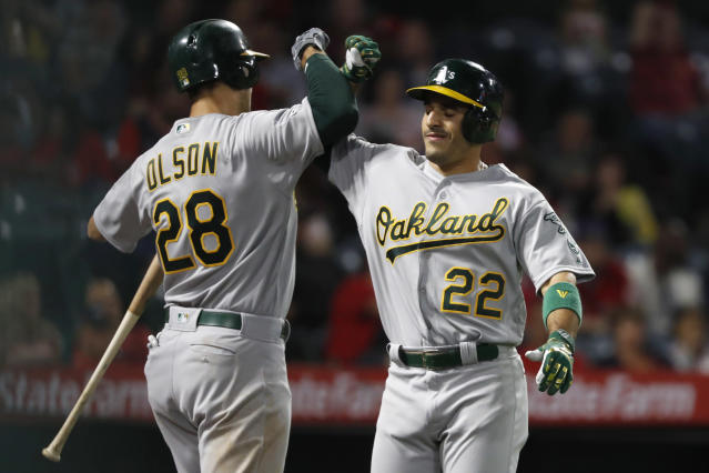 The Oakland Athletics have clinched their second straight appearance in AL wild-card game. (Photo by Sean M. Haffey/Getty Images)