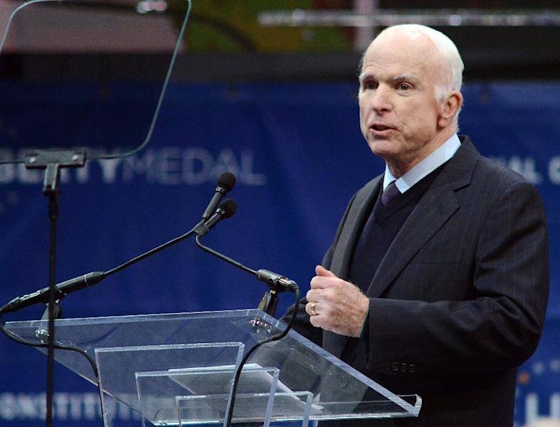 Arizona Senator John McCain, who died in August at the age of 81, was a persistent critic of President Donald Trump (AFP Photo/WILLIAM THOMAS CAIN)
