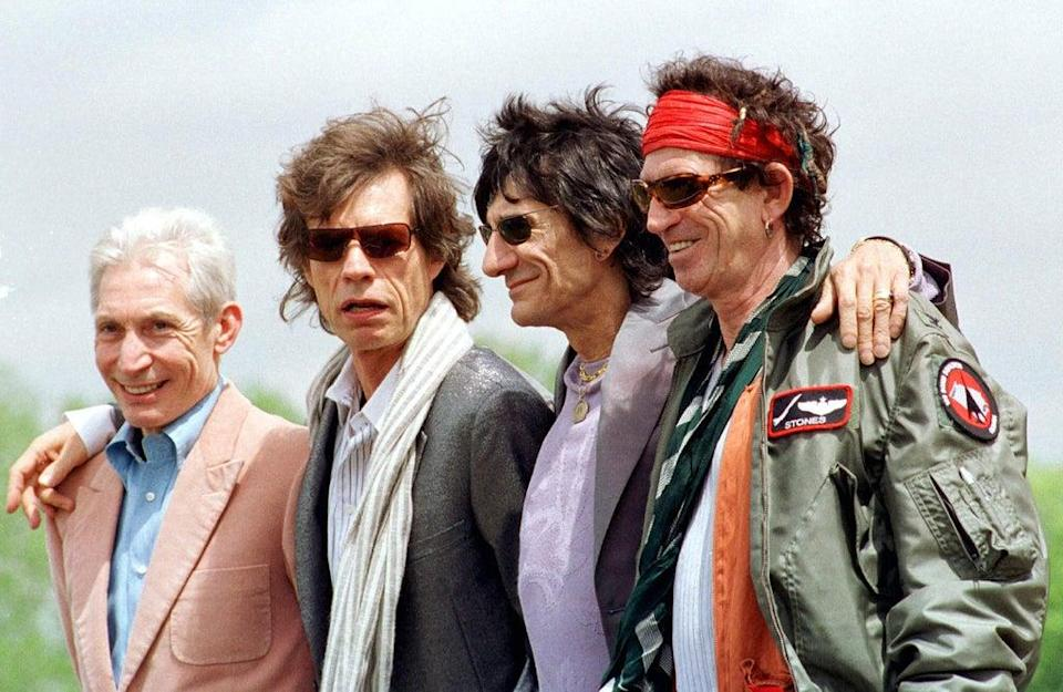 The Rolling Stones, from left to right; Charlie Watts, Mick Jagger, Ronnie Wood and Keith Richard (PA)