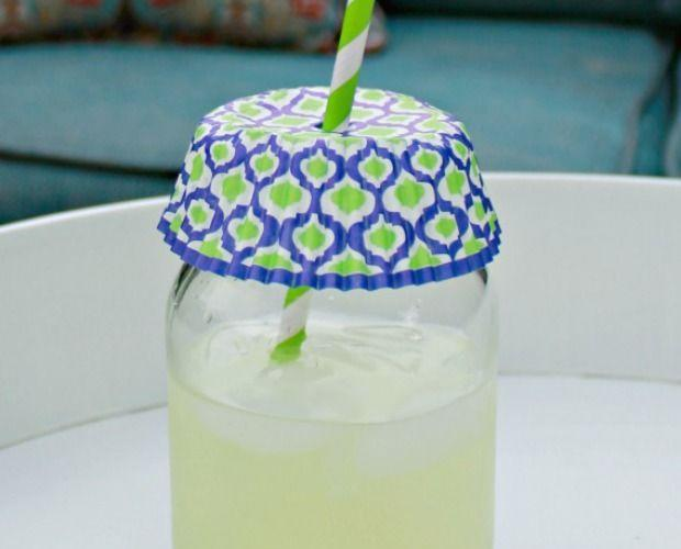 """<p>Keep insects out of drinks by topping glasses with patterned cupcake liners. Poke a hole through the center for a straw. </p><p><em><a href=""""http://www.mom4real.com/keep-bugs-out-of-your-drink-tip-of-the-day/"""" rel=""""nofollow noopener"""" target=""""_blank"""" data-ylk=""""slk:Get the tutorial at Mom 4 Real »"""" class=""""link rapid-noclick-resp"""">Get the tutorial at Mom 4 Real »</a></em> </p>"""