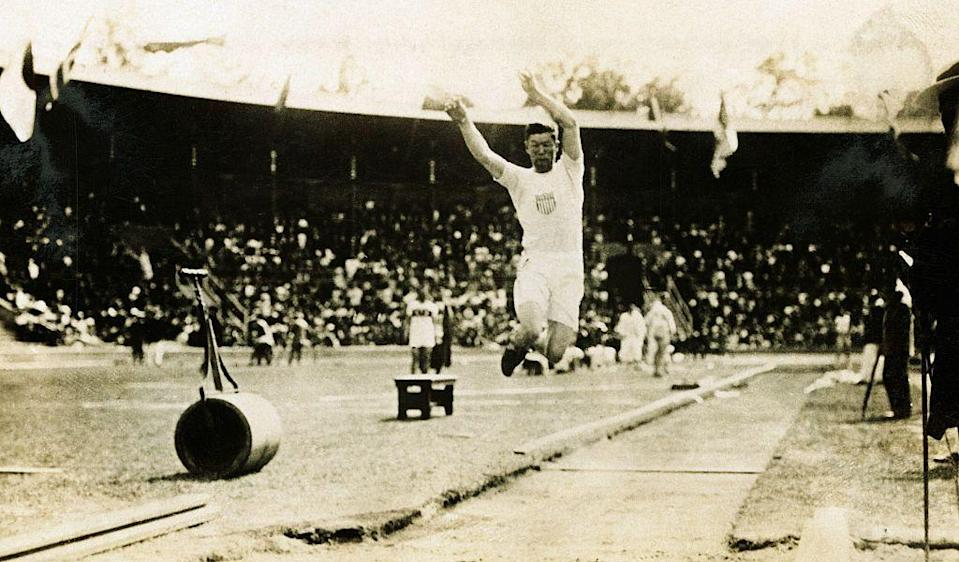 """<p>Jim Thorpe won gold in 1912 for both the pentathlon and decathlon. He was stripped of those medals a year later, when it was <a href=""""https://www.history.com/this-day-in-history/jim-thorpe-begins-olympic-triathlon"""" rel=""""nofollow noopener"""" target=""""_blank"""" data-ylk=""""slk:discovered that he had played minor league baseball professionally"""" class=""""link rapid-noclick-resp"""">discovered that he had played minor league baseball professionally</a> in 1909 and 1910. The medals were returned to him in 1982, 30 years after his death. </p>"""