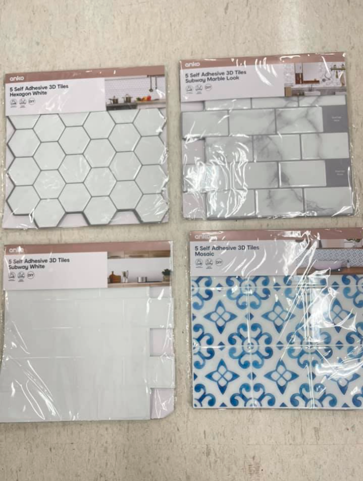 Self adhesive tiles from Kmart