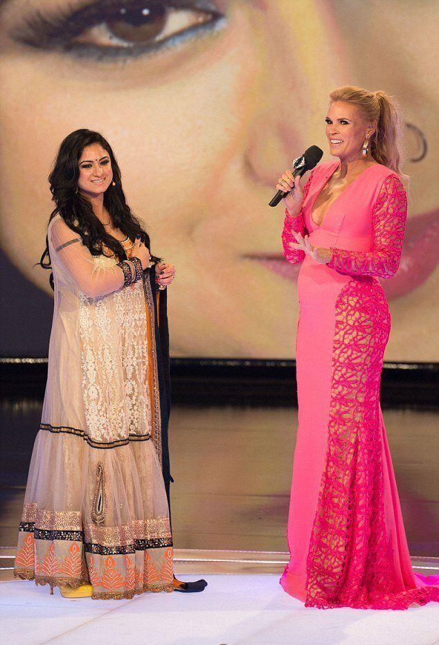 Priya Malik appeared on 'Big Brother Australia' back in 2014. Priya (left) with host Sonia Kruger (right). (Photo: Channel 9)