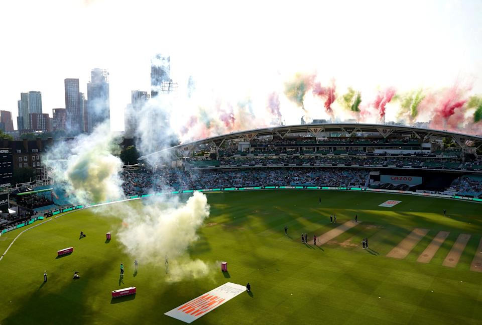 A pyrotechnics display preceded the start of the match (John Walton/PA) (PA Wire)