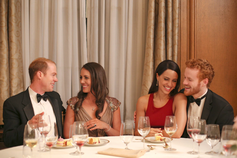 A second shot shows the actors playing Kate Middleton and Prince William too. Source: Lifetime