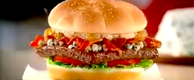 Wendy's bacon and blue cheese burger