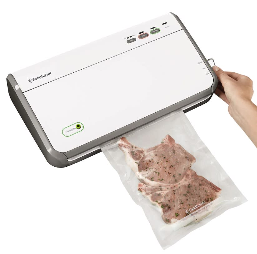 "<p>Save those holiday leftovers and keep food fresh as ever with a high-tech FoodSaver. Not only is it on sale at Kohls.com, but you'll also get a rebate form for a $20 Visa prepaid card if you buy one by Nov. 23.<br><strong><a href=""https://fave.co/2PC5SCe"" rel=""nofollow noopener"" target=""_blank"" data-ylk=""slk:SHOP IT"" class=""link rapid-noclick-resp"">SHOP IT</a>:</strong> $100 (was $130), <a href=""https://fave.co/2PC5SCe"" rel=""nofollow noopener"" target=""_blank"" data-ylk=""slk:kohls.com"" class=""link rapid-noclick-resp"">kohls.com</a> </p>"