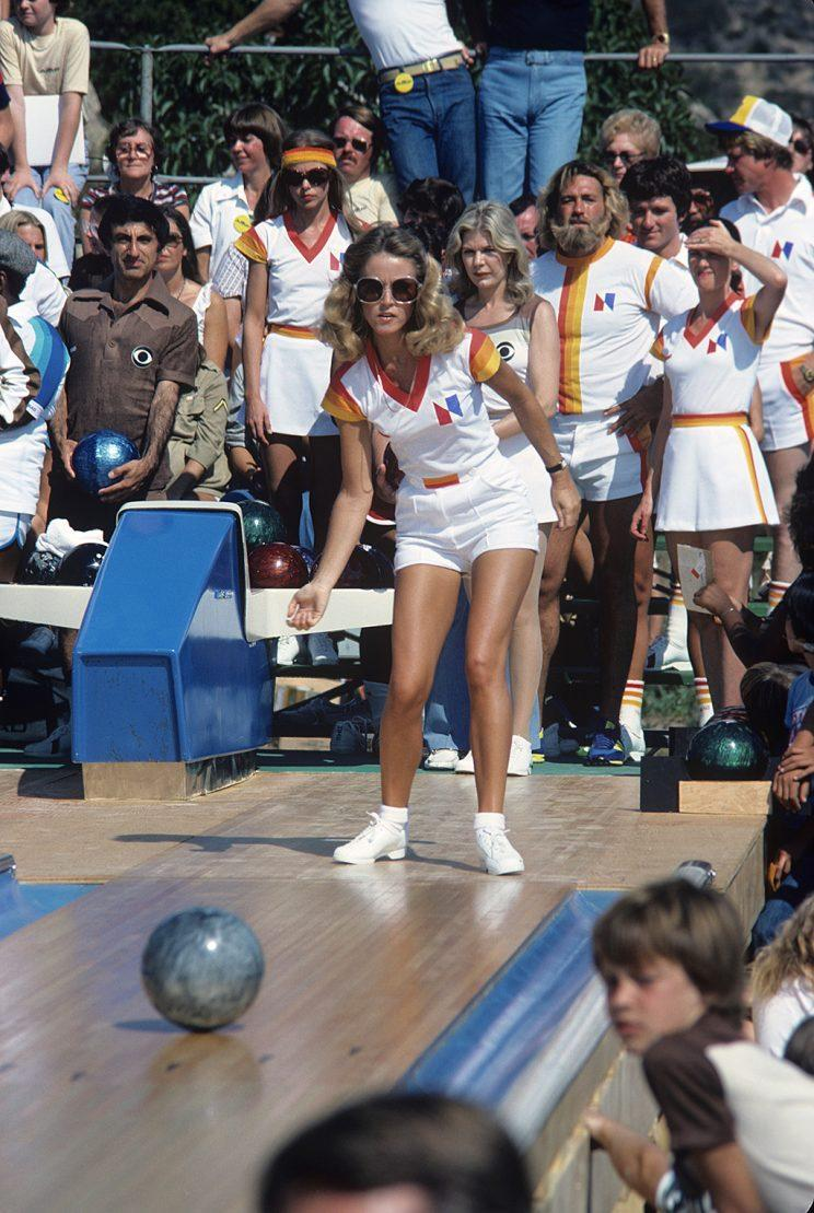Donna Mills on ABC's Battle of the Network Stars. (Photo Credit: ABC Photo Archives/Getty Images)