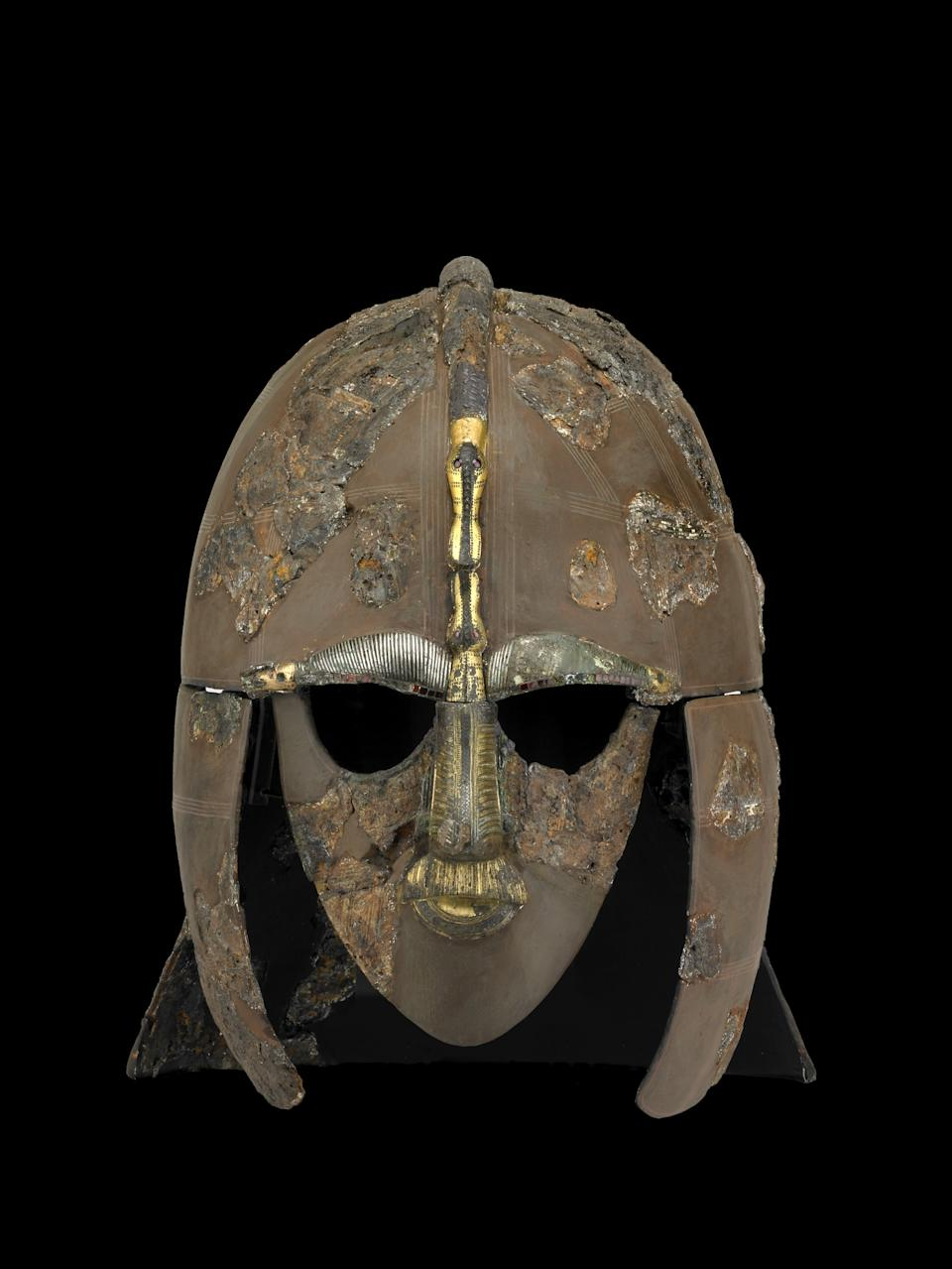 The helmet from Sutton Hoo is in the British Museum's online collection (British Museum/PA)