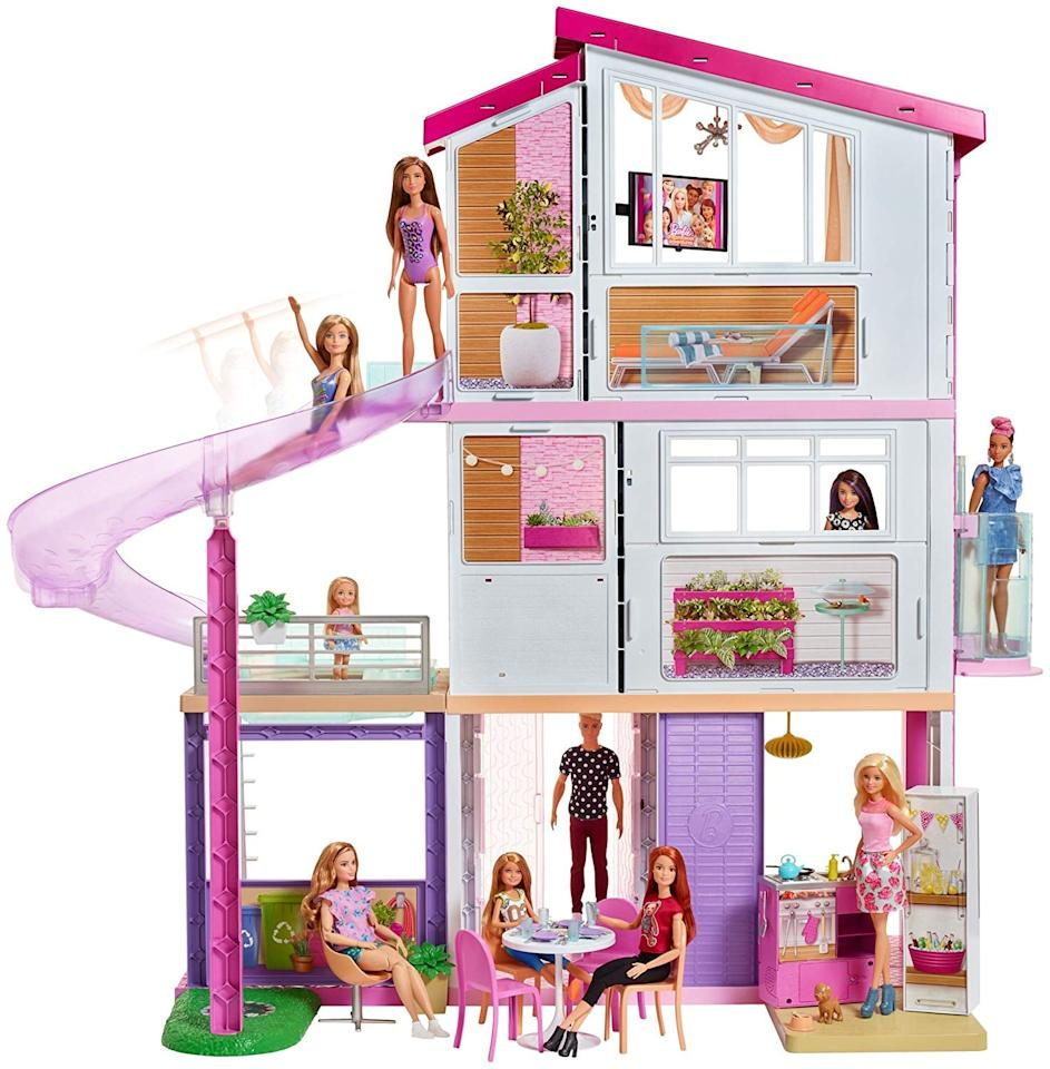 """<p>A <a href=""""https://www.popsugar.com/buy/Barbie-DreamHouse-362168?p_name=Barbie%20DreamHouse&retailer=walmart.com&pid=362168&price=179&evar1=moms%3Aus&evar9=46804434&evar98=https%3A%2F%2Fwww.popsugar.com%2Ffamily%2Fphoto-gallery%2F46804434%2Fimage%2F46804890%2FBarbie-DreamHouse&list1=toys%2Cgift%20guide%2Cwalmart%2Cgifts%20for%20kids%2Ckid%20shopping%2Ckids%20toys&prop13=mobile&pdata=1"""" rel=""""nofollow"""" data-shoppable-link=""""1"""" target=""""_blank"""" class=""""ga-track"""" data-ga-category=""""Related"""" data-ga-label=""""https://www.walmart.com/ip/NEW-Barbie-DreamHouse-Playset-with-70-Accessory-Pieces/752602629"""" data-ga-action=""""In-Line Links"""">Barbie DreamHouse</a> ($179, originally $199) will always and forever be the most fun place to play with Barbies!</p>"""