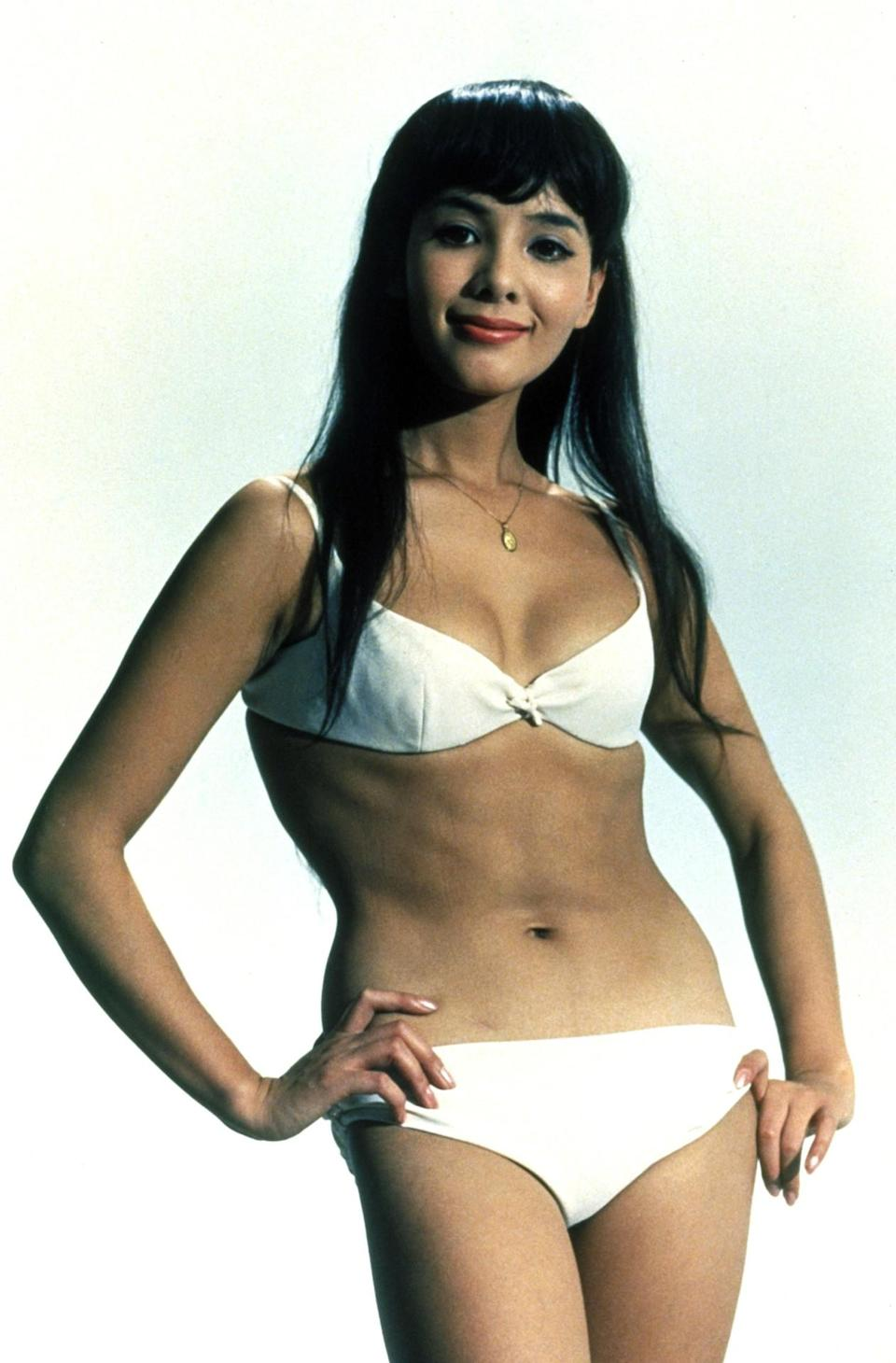 <p>The Japanese actress had trouble learning English so her lines were dubbed in, but she was able to fake being a ninja agent who discovers Blofeld's base hidden in a volcano. <i>(Photo: Everett Collection)</i></p>