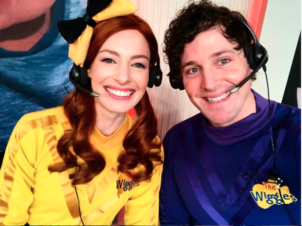 Emma Watkins and Lachlan Gilispie on The Wiggles