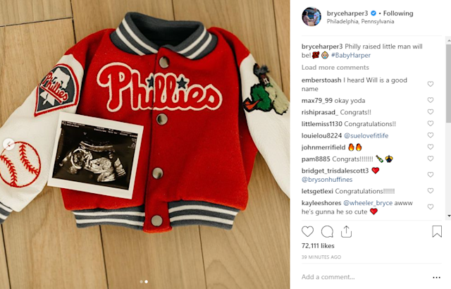 various colors 5dd36 38358 Bryce Harper says he and his wife are having a baby... (and ...