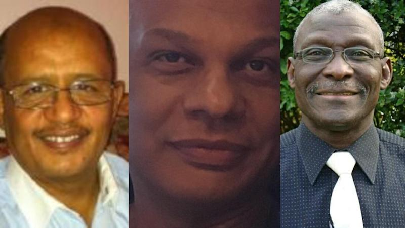 The first three NHS doctors to die in coronavirus outbreak : Dr Adil El Tayar, Dr Amged el-Hawrani and Dr. Alfa Saadu (Photo: Supplied)