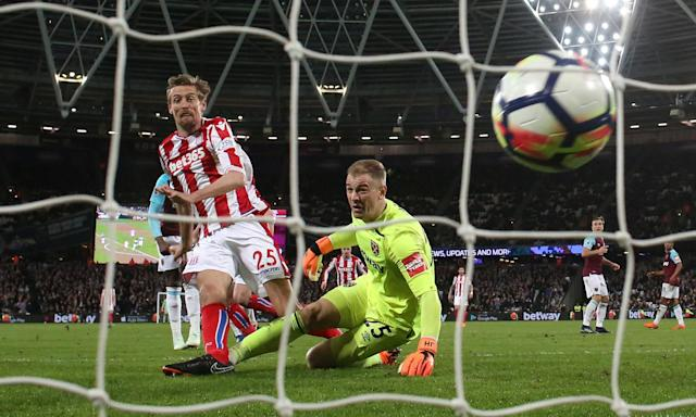 Joe Hart gifted a goal to Stoke's Peter Crouch on Monday night but mistakes for West Ham are unlikely to cost him his World Cup place.