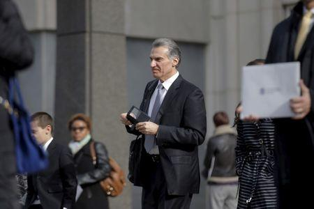FILE PHOTO - Former hedge fund manager Vitaly Korchevsky leaves Brooklyn Federal Court in the Brooklyn borough of New York
