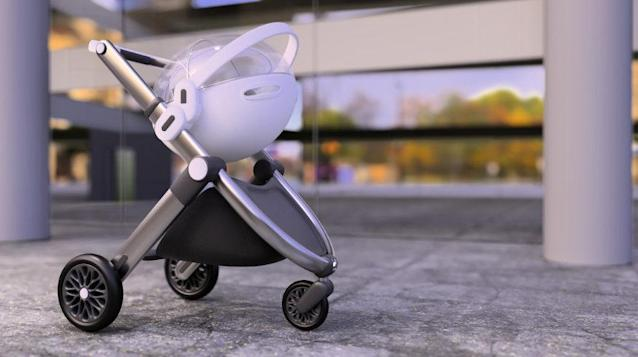 A dad has invented a pram that could help protect babies from coronavirus. (SWNS)