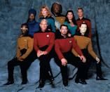 """Nearly two decades after the end of the original series, Roddenberry returned to the final frontier with a new crew, new voyages and a new Enterprise, led by Patrick Stewart as Captain Jean-Luc Picard on <a href=""""/star-trek-the-next-generation/show/33814"""" data-ylk=""""slk:&quot;Star Trek: The Next Generation&quot;"""" class=""""link rapid-noclick-resp"""">""""Star Trek: The Next Generation""""</a> (1987-1994). Set in the 24th century, nearly 80 years after Kirk's era, the series featured some of Star Trek's most enduring characters, including the yellow-skinned android Data and Starfleet's first Klingon, Worf. The show was the longest running series of the franchise and was nominated for the Emmy for Best Dramatic Series in its seventh and final season."""