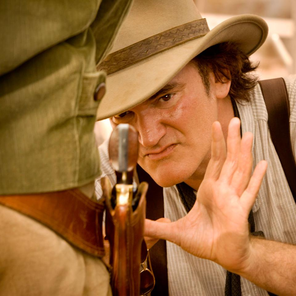 """Director Quentin Tarantino on the set of The Weinstein Company's """"Django Unchained"""" - 2012"""