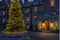 """<p>With its fairy-tale turrets, scenic garden and local woodland, <a href=""""https://www.booking.com/hotel/gb/glenapp-castle.en-gb.html?aid=2070929&label=christmas-hotels"""" rel=""""nofollow noopener"""" target=""""_blank"""" data-ylk=""""slk:Glenapp Castle"""" class=""""link rapid-noclick-resp"""">Glenapp Castle</a> is a magical hotel to spend Christmas in Scotland. Every year at Christmas, the Castle assembles the most magnificent and tall tree that stands within the entrance of the family-owned castle. Falconry displays, stargazing, clay pigeon shooting and treasure hunts take place, while the open fires and new friendships help set the scene. Father Christmas always finds his way to Glenapp, too. </p><p><a class=""""link rapid-noclick-resp"""" href=""""https://www.booking.com/hotel/gb/glenapp-castle.en-gb.html?aid=2070929&label=christmas-hotels"""" rel=""""nofollow noopener"""" target=""""_blank"""" data-ylk=""""slk:CHECK AVAILABILITY"""">CHECK AVAILABILITY</a></p>"""