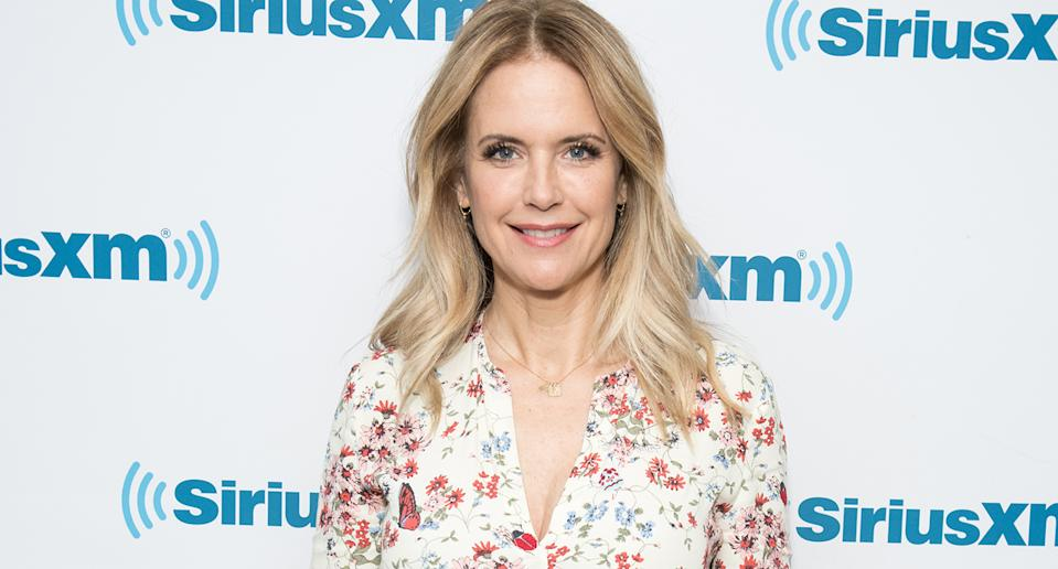 "Kelly Preston had privately battled breast cancer for two years until her death at the age of 57 in July, with husband John Travolta releasing <a href=""https://uk.news.yahoo.com/john-travolta-wife-kelly-preston-062709223.html"" data-ylk=""slk:an emotional statement;outcm:mb_qualified_link;_E:mb_qualified_link;ct:story;"" class=""link rapid-noclick-resp yahoo-link"">an emotional statement</a> announcing her passing. (Photo by Noam Galai/Getty Images)"
