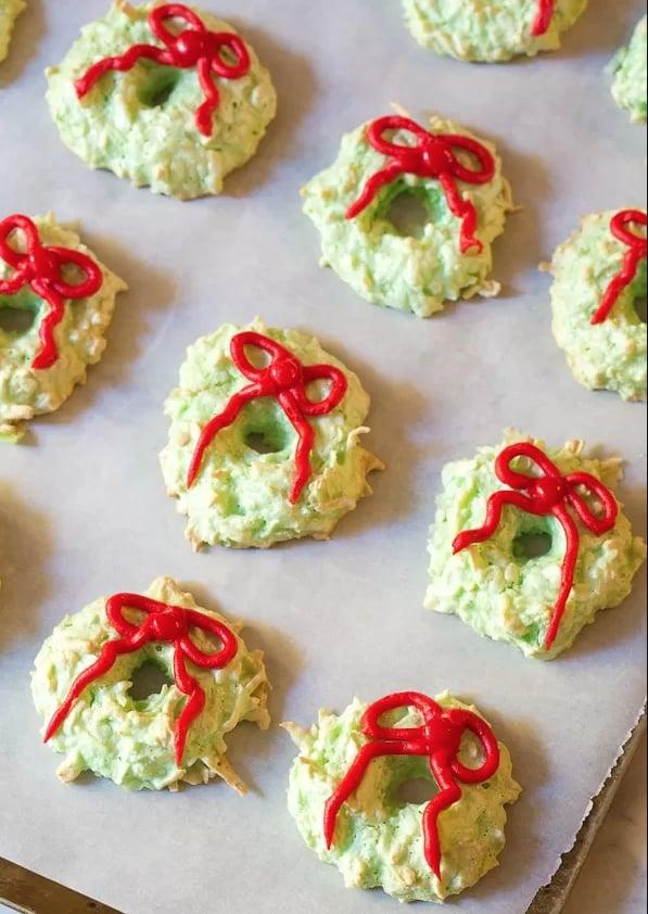 "<p><strong>Get the recipe:</strong> <a href=""https://www.aspicyperspective.com/christmas-wreath-coconut-macaroons/"" target=""_blank"" class=""ga-track"" data-ga-category=""Related"" data-ga-label=""https://www.aspicyperspective.com/christmas-wreath-coconut-macaroons/"" data-ga-action=""In-Line Links"">Christmas wreath coconut macaroons</a></p>"