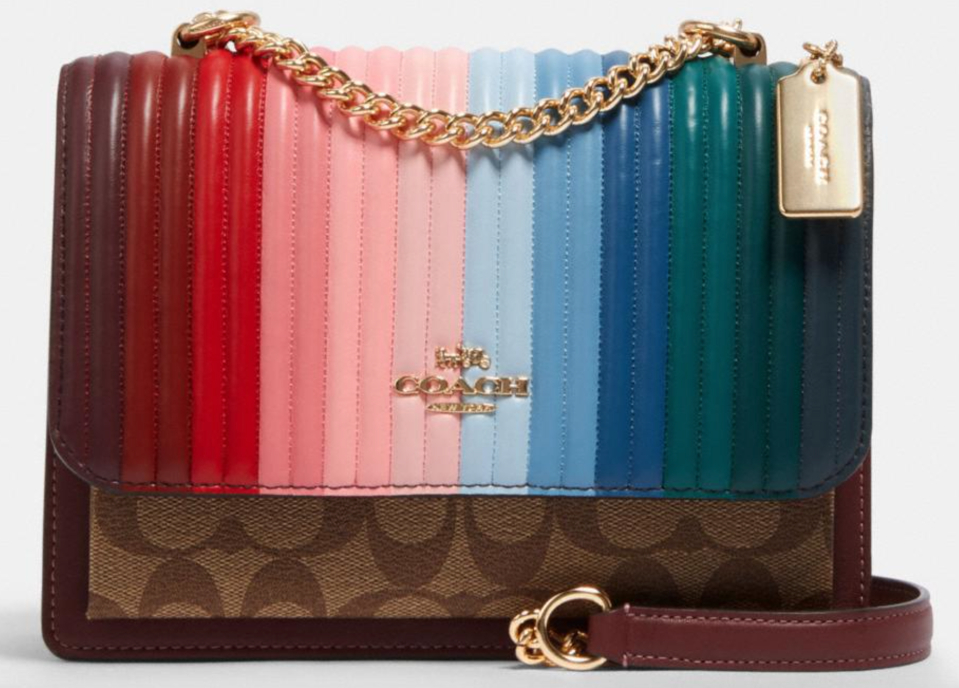 Coach 'Klare' Crossbody With Rainbow Quilting (Photo via Coach Outlet)