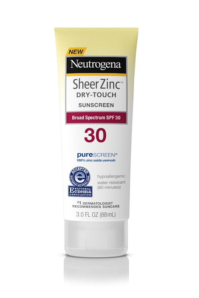 "<p><a rel=""nofollow"" href=""https://www.target.com/p/neutrogena-sheer-zinc-sunscreen-lotion-spf-30-3oz/-/A-51246819"">BUY NOW</a><br></p><p>This thick and creamy mineral-based formula is free of parabens, oils, phthalates, yes, fragrance. Plus it's a great choice under makeup. As one reviewer put it, ""This sunscreen felt light, and I could even apply foundation over it <strong>without feeling heavy</strong> or greasy."" <br></p><p><em>($9, <a rel=""nofollow"" href=""https://www.target.com/p/neutrogena-sheer-zinc-sunscreen-lotion-spf-30-3oz/-/A-51246819"">target.com</a>)</em><br></p>"