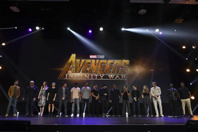 The Avengers: Infinity War cast assembles at Disney's D23 Expo. (Photo: Disney)