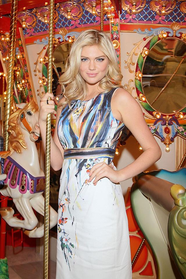 MEXICO CITY, MEXICO - MARCH 01: Model Kate Upton poses to photographers during the Liverpool Fashion Fest Spring/Summer 2012 store photocall at Liverpool Interlomas on March 1, 2012 in Mexico City, Mexico.