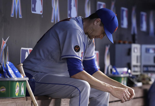 Jacob deGrom is sick of losing with the Mets. (AP Photo)