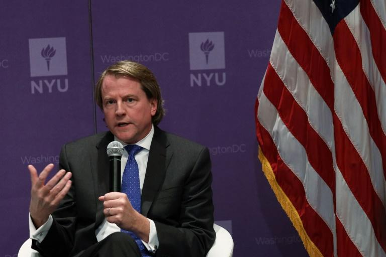 Former White House legal advisor Don McGahn is seen in 2019 in Washington