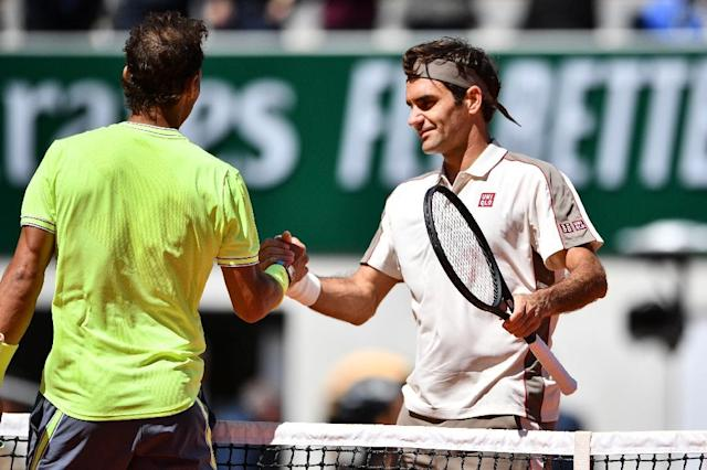Roger Federer at his last match, losing to Rafael Nadal at the French Open (AFP Photo/Martin BUREAU)