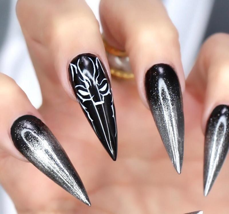 Fans are Getting Black Panther Inspired Nail Art Manicures