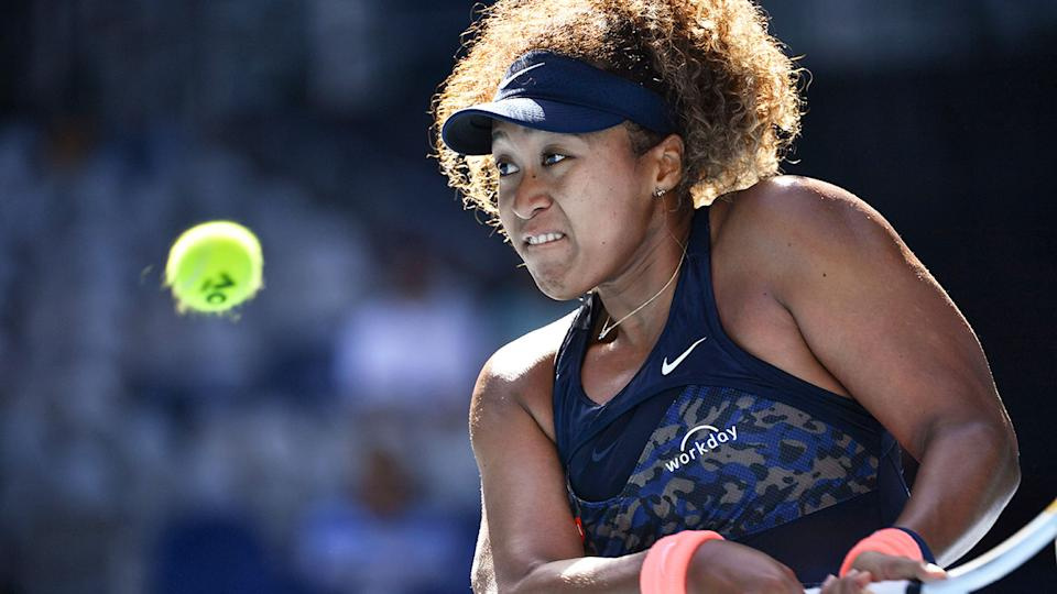Naomi Osaka is seen here in action during the third round of the 2021 Australian Open.