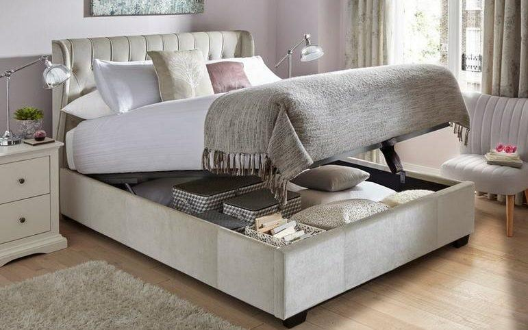 Upholsters ottoman bed frame