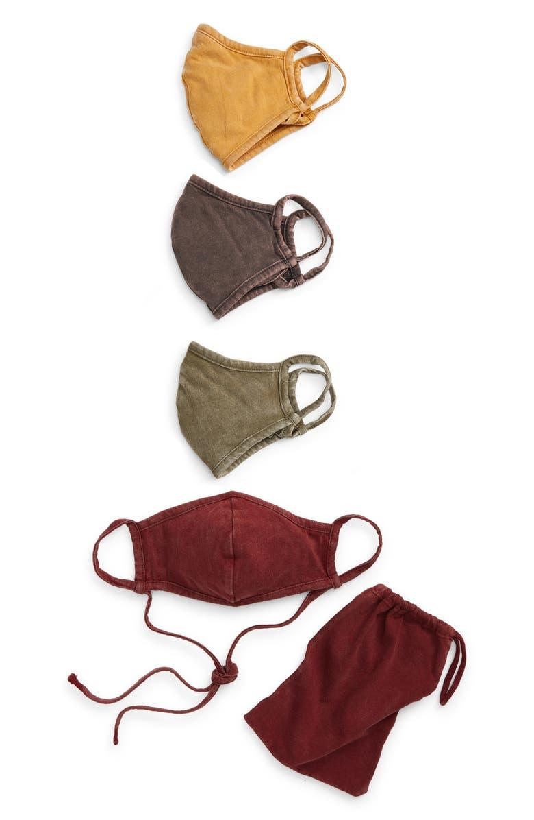 Assorted 4-Pack Adult Face Masks. Image via Nordstrom.