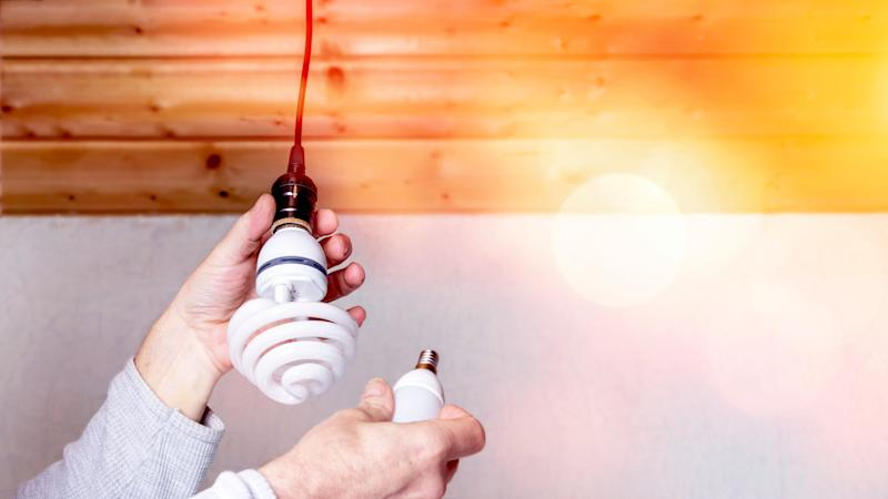 Energy-efficient lightbulbs are a win/win/win: they'll save you money on your electrical bill, they're good for the environment, and they give off less heat than incandescent (or traditional) bulbs.