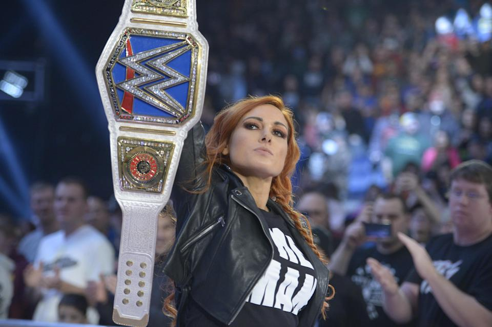 """WWE star Becky Lynch has become the hottest commodity in professional wrestling, thanks to the development of her character, """"The Man."""" (Photo Courtesy of WWE)"""