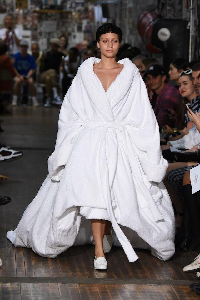 A model walks the runway at the Vaquera fashion show during New York Fashion Week on Sept.12 in NYC. (Getty)