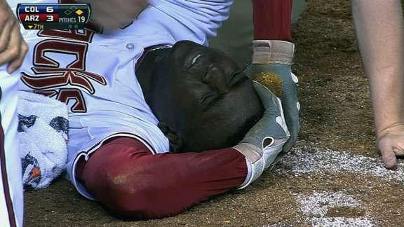 Didi Gregorius suffers right temple contusion after being struck by Josh Outman pitch