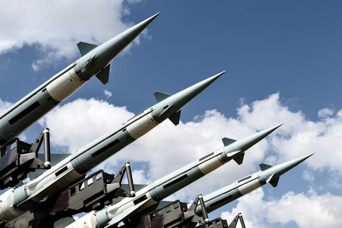 """<span class=""""caption"""">The U.S. has thousands of nuclear weapons stockpiled.</span> <span class=""""attribution""""><a class=""""link rapid-noclick-resp"""" href=""""https://www.shutterstock.com/image-photo/radom-mazowieckie-poland-0824-missile-launcher-1235652937"""" rel=""""nofollow noopener"""" target=""""_blank"""" data-ylk=""""slk:3d generator/Shutterstock.com"""">3d generator/Shutterstock.com</a></span>"""
