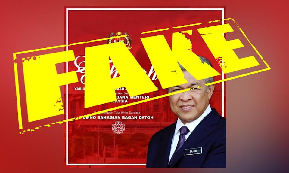 Division says 'Zahid as DPM' poster fake, cabinet reshuffle speculation grows