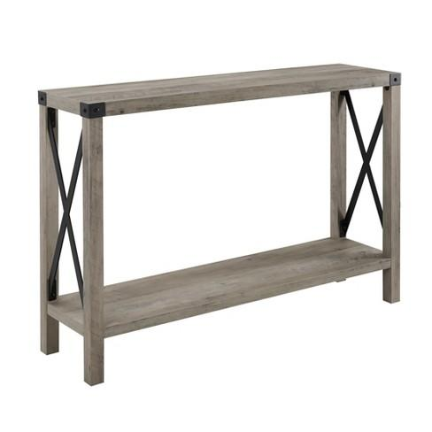 Saracina Home Industrial Farmhouse Entry Table