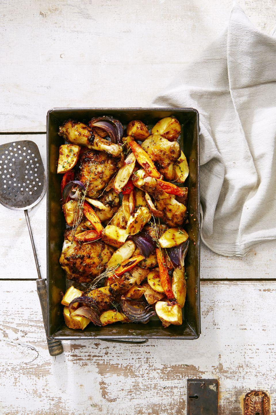 "<p>Can we all agree that honey mustard is the greatest condiment of all time?</p><p><em><a href=""https://www.goodhousekeeping.com/food-recipes/party-ideas/a36629/honey-mustard-glazed-chicken-bake/"" rel=""nofollow noopener"" target=""_blank"" data-ylk=""slk:Get the recipe for Honey Mustard-Glazed Chicken Bake »"" class=""link rapid-noclick-resp"">Get the recipe for Honey Mustard-Glazed Chicken Bake »</a></em></p>"