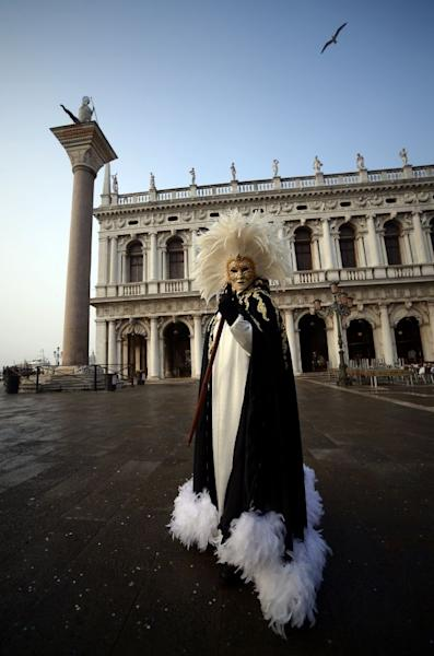 A maximum 20,000 people were allowed into St Mark's Square during this year's Venice Carnival, to help limit the impact of mass tourism on the city's historic center