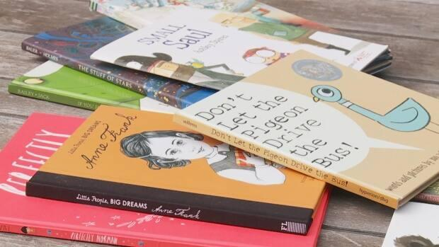 Students at Burnaby Central Secondary School in Burnaby, B.C., have collected over 1,100 books to ship to students in Vietnam who are learning English. Image does not depict actual books collected for shipping.  (Travis Kingdon - image credit)