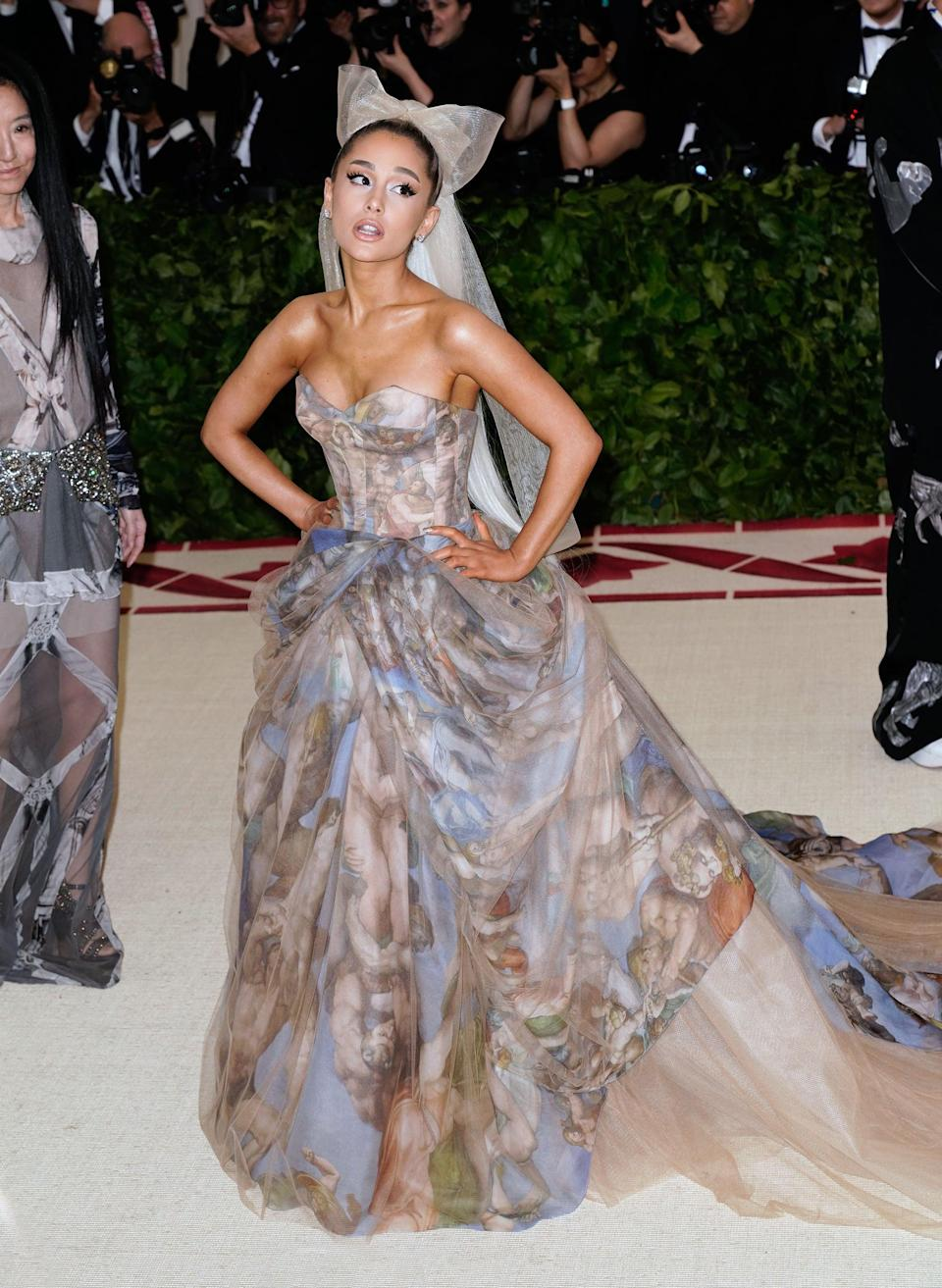 <p>If there's one thing Roach will do, it's nail a Met Gala theme, all the way down to this Sistine Chapel-printed Vera Wang dress.</p>