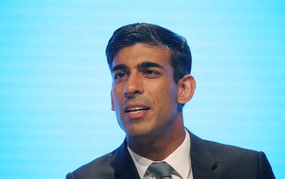 Chief Secretary to the Treasury Rishi Sunak speaks during the second day of the Conservative Party Conference being held at the Manchester Convention Centre. Picture dated: Monday September 30, 2019. Photo credit should read: Isabel Infantes / EMPICS Entertainment.