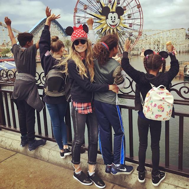"<p>Once they rolled out of bed, Klum and her brood headed to Disneyland! ""Thank you kids for taking me to the happiest place on earth,"" she wrote. (Photo: <a href=""https://www.instagram.com/p/BUFdC6mgioF/"" rel=""nofollow noopener"" target=""_blank"" data-ylk=""slk:Heidi Klum via Instagram"" class=""link rapid-noclick-resp"">Heidi Klum via Instagram</a>) </p>"
